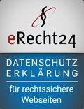 eRecht24 – Datenschutzerklärung – für rechtssichere Webseiten